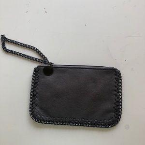 Boutique Leather Chain Wristlet